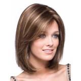 "100% Human hair wigs 10"" straight 4-27 hi-light"