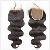 Virgin remy lace closure body wave