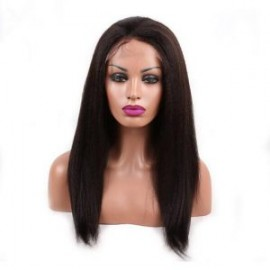 Kinky Straight lace front African American wigs