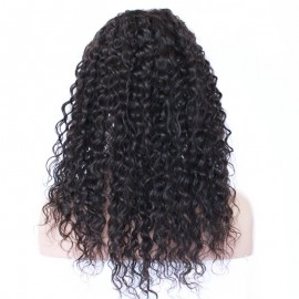 Indian Remy lace front wigs water curly
