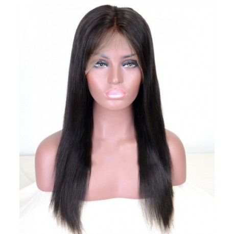 Malaysian lace front wigs silky straight