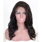 Quick ship Peruvian hair lace front wigs natural wave