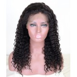 Deep curly Indian lace front wigs with baby hair