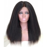 Kinky straight cheap lace front human wigs