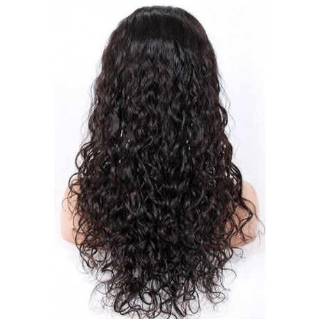 Peruvian curly lace front wigs