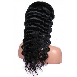 Indian remy lace front wigs uk deep body wave