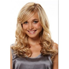 100% Human hair wigs wavy 27/613 hi-light