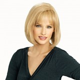 100% human hair wigs for white women blonde mixed color
