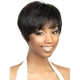 Short hair human hair wigs on sale pixie cut