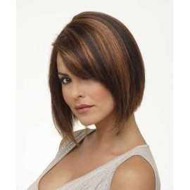 Fashion affordable Indian human hair wig bob cut