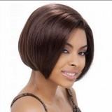 "Human Hair Wig bob hair style 10"" Straight black"
