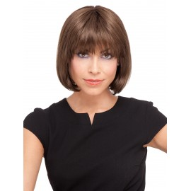 Cheap human hair wigs with bang on sale