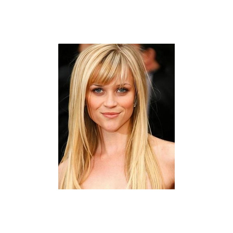 human hair lace front wigs with bangs strawberry blonde