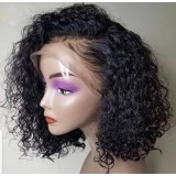 Pre-plucked hair line Deep Curly Bob Wig Lace Front