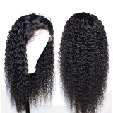 Virgin Brazilian hair deep curly 13X6 lace Front wig human hair