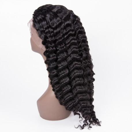 Virgin Brazilian hair deep wave 13X6 lace Front wig human hair