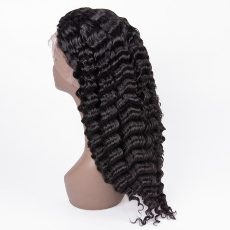 Virgin Brazilian hair deep wave 13X6 lace Front wig human hair