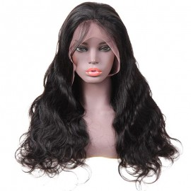 Virgin Human Hair Closure wigs Body Wave Texture