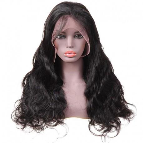 Virgin Human Hair Closure wigs Body Wave Texture