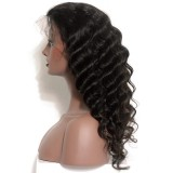 Virgin Human Hair Closure wigs Loose Wave