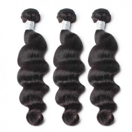 Peruvian Virgin Hair Loose Wave Hair Weaves 3 piece/Lot