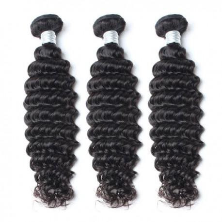Peruvian Virgin Hair Deep Wave Hair Weaves 3 piece/Lot