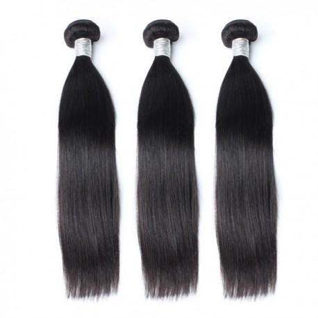 Malaysian Virgin Hair Straight Hair Weaves 3 piece/Lot