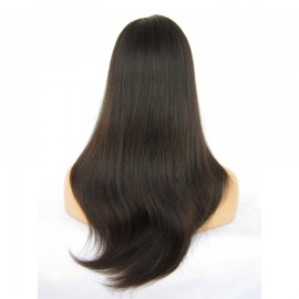 "Best Brazilian VIrgin Hair Full lace Wigs 20"" Straight Natural black"